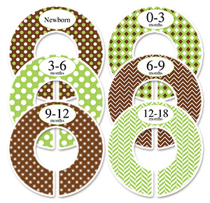 Green & brown closet dividers adult