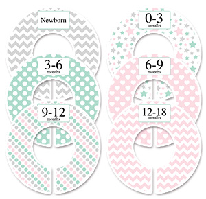 Pastel girls clothing dividers