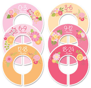 Flowers baby girl clothing dividers