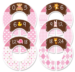 Animals pink girls clothing dividers