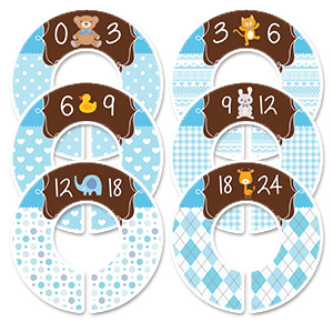 Animals blue boys clothing dividers