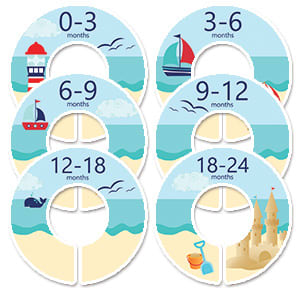 nautical beach baby nursery closet dividers