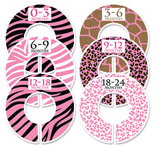 girls pink animal patterns