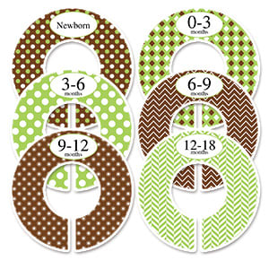 brown and green adult wardrobe dividers