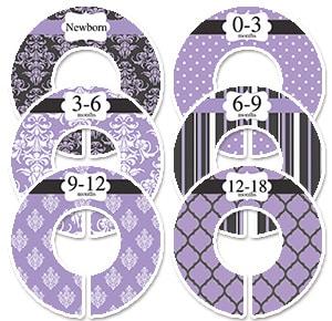 purple & black damask